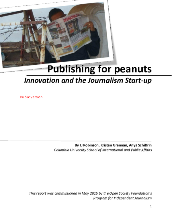 Publishing for peanuts